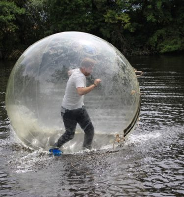 we travel nationwide in Ireland with our water zorbing mobile adventures